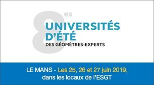 Universités d'été des géomètres experts - Le Mans