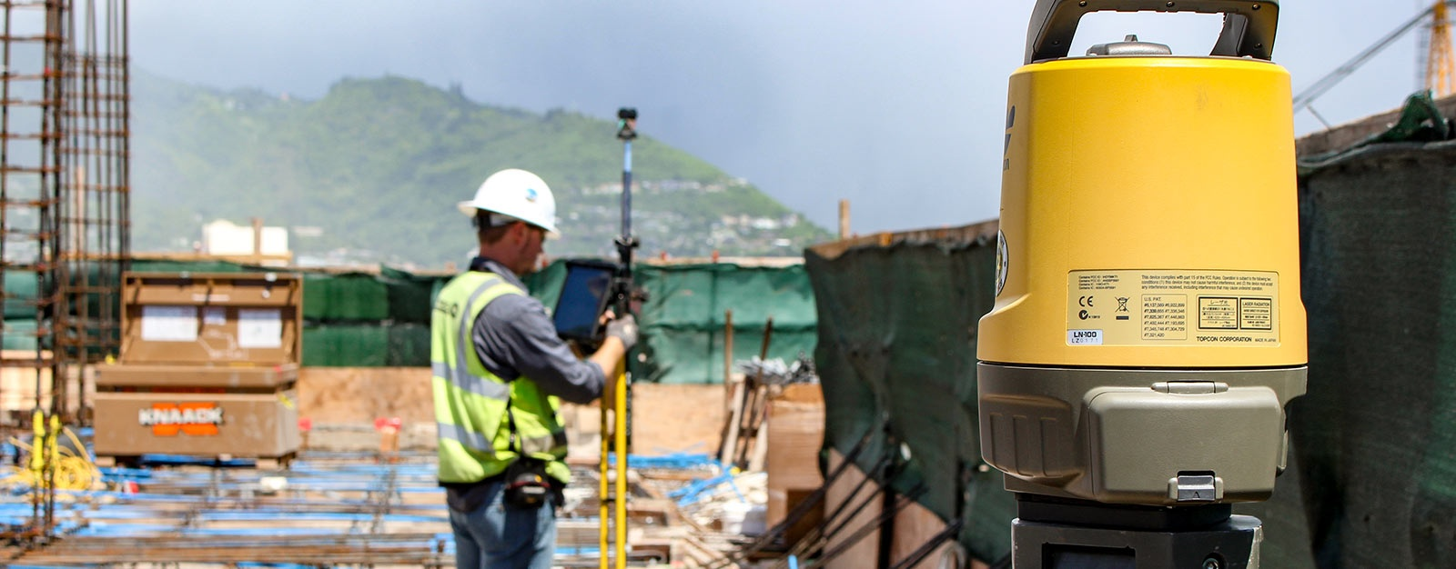 Topcon Ln 100 Streamlines Layout In Hawaii High Rise Curtain Wall Piping Engineer Jobs Singapore