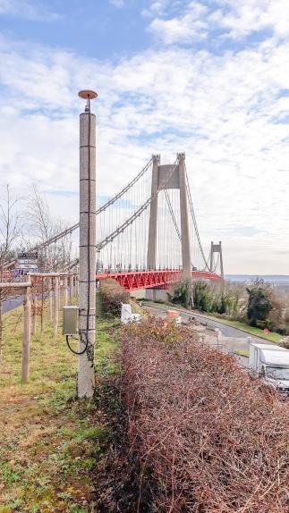 Structure du pont surveillée et vérifiée en temps réel