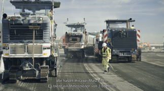 Organisation des Verkehrs auf der Baustelle