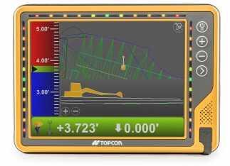 Topcon stellt neues 10-Zoll-Touchscreen-Display für die Baumaschinensteuerung vor