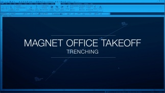 Trenching in MAGNET Office Takeoff employs templates and libraries