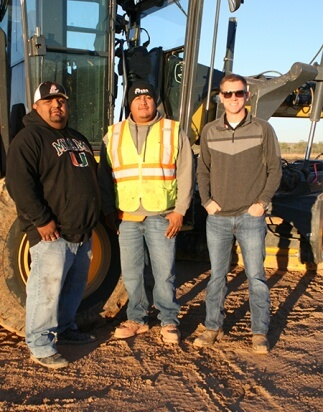 Arizona contractor's work on National Memorial Cemetery project gets help from above.