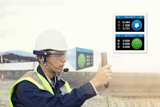 """Topcon presenta un nuovo display """"heads-up"""" per  i tracciamenti di cantiere a mani libere"""