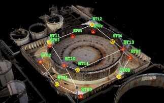 Il rilievo laser scanner del serbatoio