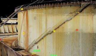 L'oggetto del rilievo e analisi: il serbatoio di stoccaggio idrocarburi TK 62