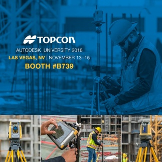 Topcon speakers to hold construction validation classes at Autodesk University