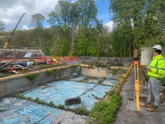 Topcon provides surveying software for the Cleveland Pools restoration