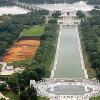 GPS helps artist's rendering come to life in a big way on the National Mall.