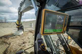 Tilt rotation support for automatic excavation, bring-your-own device, mobile apps included