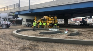 Robotic-based solutions from Topcon  enhance curb and gutter paving performance