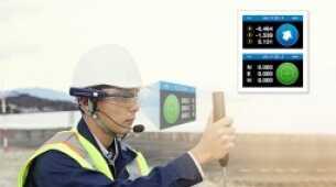 Neues Head-up-Display-System für die freihändige Bauabsteckung