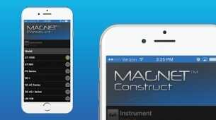 App 'MAGNET Construct 2.0'  voor verbinding met meer instrumenten