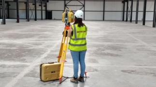 Uiterst nauwkeurige betonvloer dankzij 3D-laserscanner
