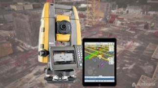 Software update : Verbeterde integratie van de GT total stations met Autodesk