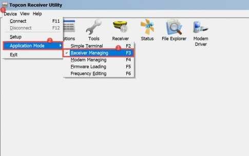TRU (Topcon Receiver Utility): Setting Site & Antenna Parameters For